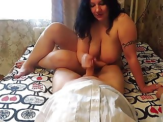 Russian big beautiful woman ride on inmate's dong