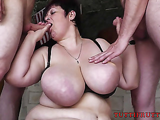 Large Tit big beautiful woman Tanja having Family sex