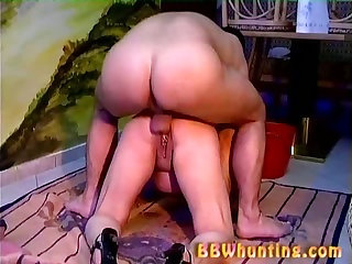 Chubby mature giving good blowjob
