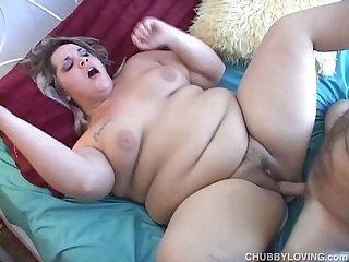 Beautiful BBWs first fuck on film
